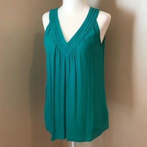 Turquoise V-neck Top